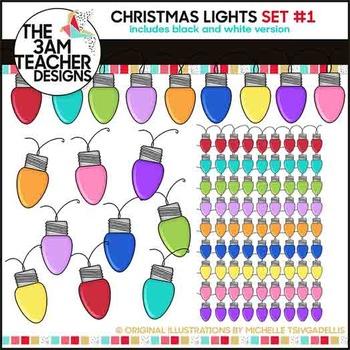 Christmas Lights: Clipart Set #1