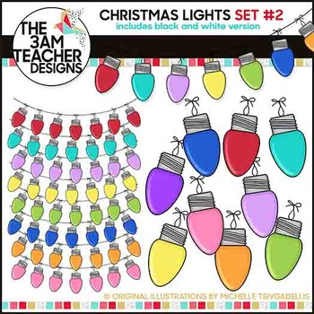 Christmas Lights: Clipart Set #2
