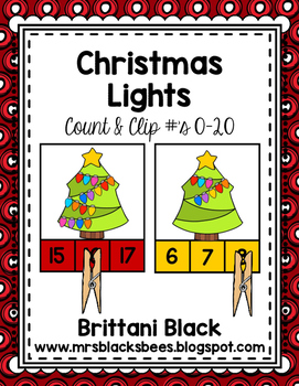Christmas Lights~ Count and Clip
