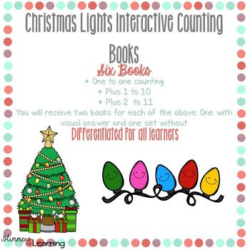 Christmas Lights Counting and Addition Books: Interactive and Differentiated