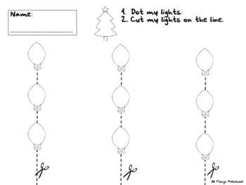 Christmas Lights; Dot, Cut, & Pattern Activities