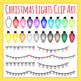 Christmas Lights / Fairly Lights Clip Art Set for Commercial Use