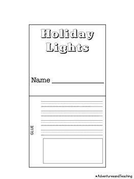 Christmas Lights Flipbook Craftivity