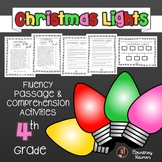 Christmas Lights Fluency Passage & Comprehension Questions {Grade 4}