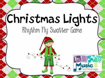 Christmas Lights Rhythm Fly Swatter Card Game