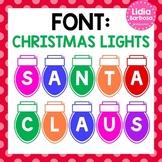Christmas Lights Font {Lidia Barbosa}