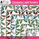 Christmas Lights Border Clip Art {Glitter Frames for Worksheets & Scrapbooking}