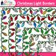 Christmas Lights Border Clip Art | Christmas Clipart for Teachers