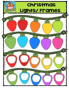 Christmas Lights/Frames {P4 Clips Trioriginals Digital Clip Art}