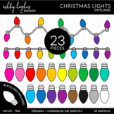 Christmas Lights Clipart {A Hughes Design}