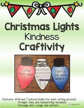 Christmas Lights Kindness Writing and Craft