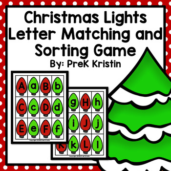 Christmas Lights Letter Matching and Sorting Game