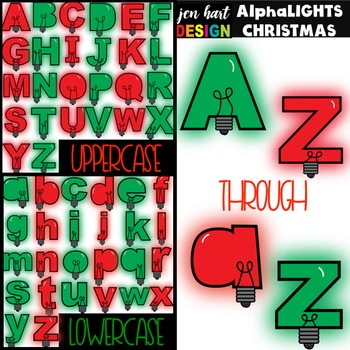 Letter Clipart Christmas Lights-AlphaLIGHTS