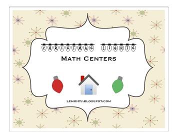 Christmas Lights Math Center Activities