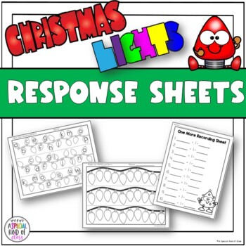 Christmas Lights Math and Literacy Work Stations