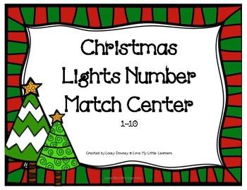 Christmas Lights Number Match