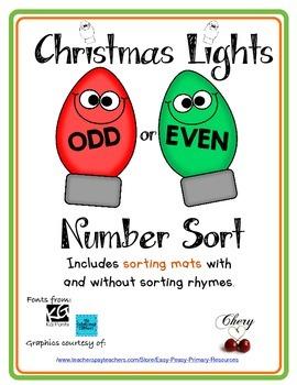 Christmas Lights Odd or Even Number Sort