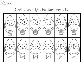 Christmas Lights Pattern Activity