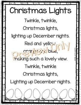 Christmas Lights - Poem for Kids