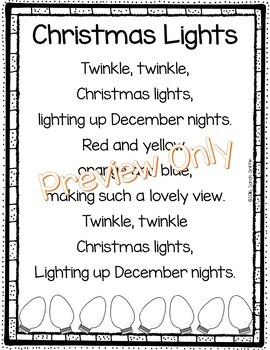 Children Christmas Poem.Christmas Lights Poem For Kids