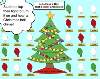 Christmas Lights Smart Board Attendance Activity W Animation And Sound