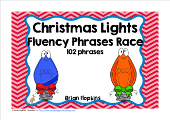 Christmas Lights Sight Word Fluency Phrases Race