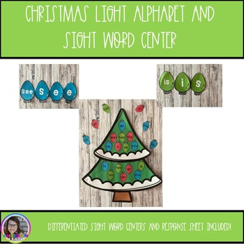 Christmas Lights Sight Word and Letter Center