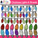 Christmas Lights Clip Art {Rainbow Decorations for Holiday