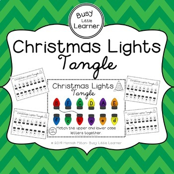 Christmas Lights Tangle- Match Capital and Lower Case Letters