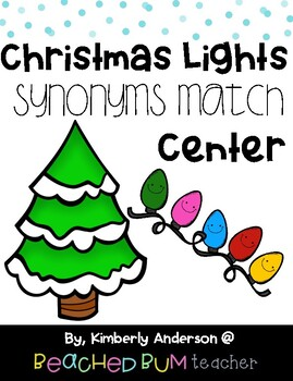 Christmas Lights Themed Synonyms Center Match