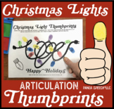 Christmas or Holiday Lights Thumbprints A Speech Therapy Craft Activity