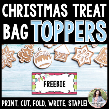 Christmas Lights Treat Bag Toppers