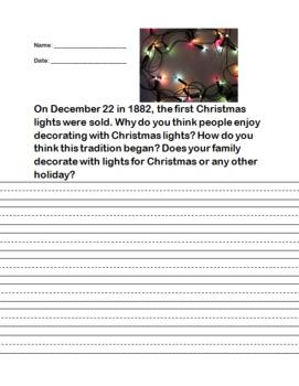 Christmas Lights Writing