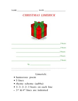 christmas limerick poetry form christmas limerick poetry form - 30 Limerick Examples Funny Cooperative