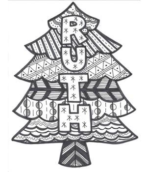 Christmas Line Art
