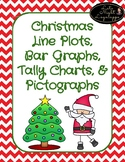 Christmas Line Plots, Tally Chart, Bar Graphs, Pictographs