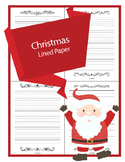 Christmas Lined Writing Paper