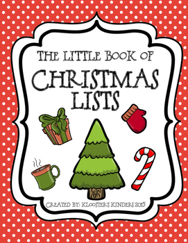 Christmas List Booklet - Holiday Writing Activity