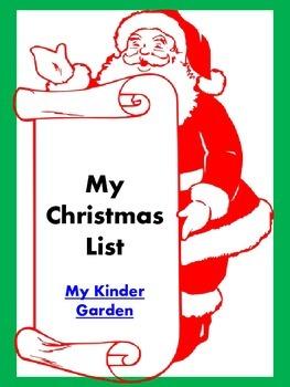 Christmas List Writing Sheet ** FREE **
