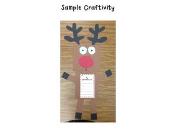 Christmas List and Rudolph Craftivity
