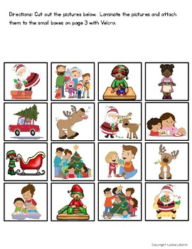 Christmas Listening Comprehension Picture Matching