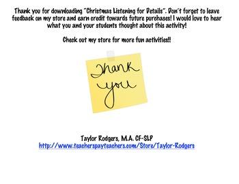 Christmas Listening for Details!