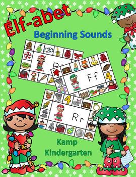 Christmas Literacy Activities Elf-abet Beginning Consonant Sounds