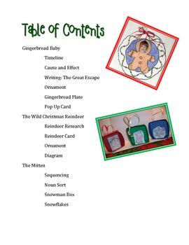 Christmas Literacy Activities Featuring Jan Brett