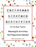 Christmas Literacy Activities ~ Last Minute Ideas ~ Quick