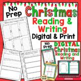 Christmas Activities 3rd - 5th: No-Prep Christmas Reading and Writing Activities