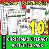 No-Prep Christmas Literacy Activities Pack for Elementary