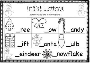 Christmas Literacy Activities (Vocabulary & Spelling)