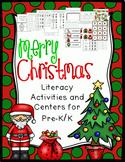 Christmas Literacy Activities and Centers PreK-K