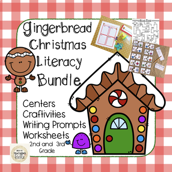 Christmas Literacy Activities for 2nd and 3rd Grade.